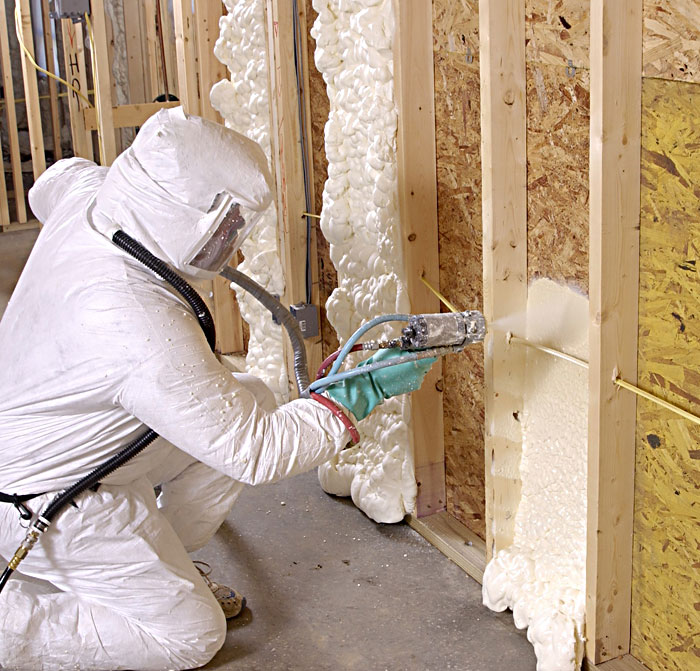 Applying Foam Insulation