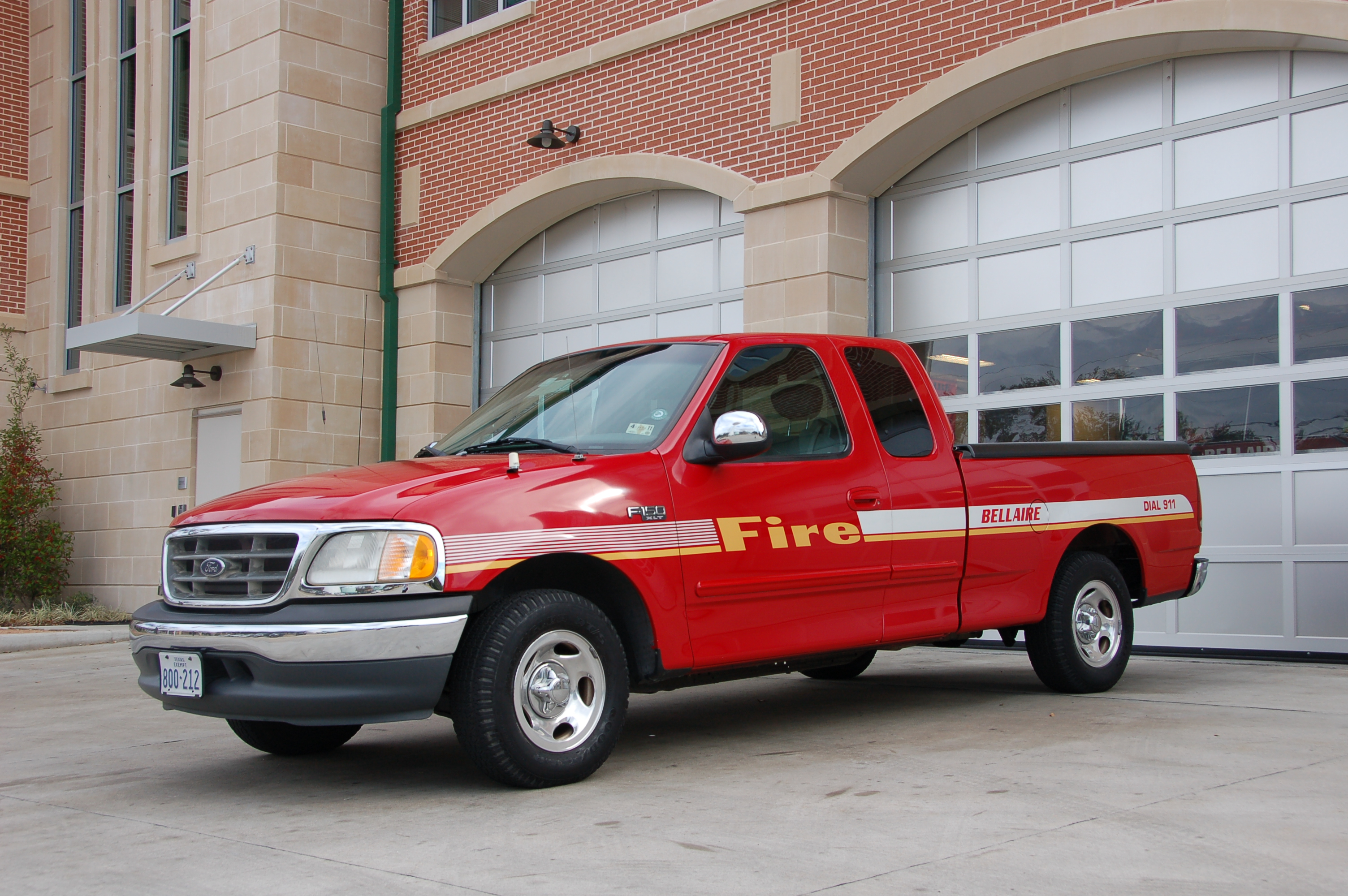 Fire Department Pickup Truck