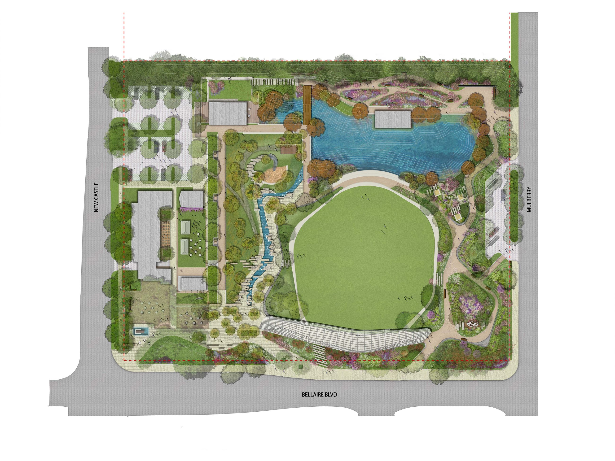 Evelyns Park _Rendered Siteplan_ Full Build out 120114