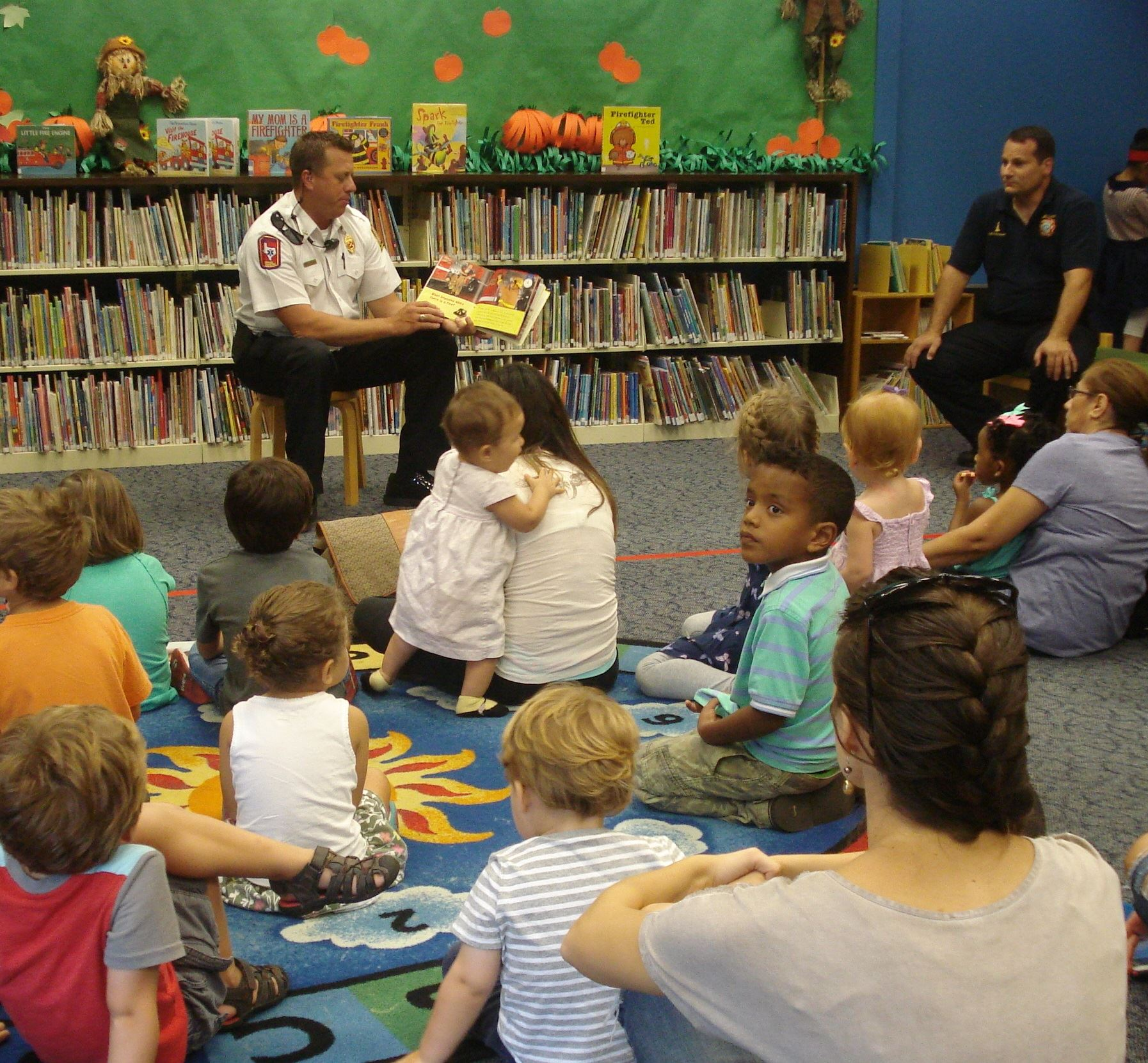 Fire Department reading at story time