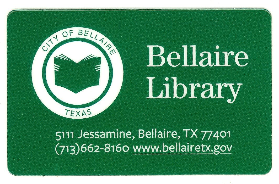 Library card green