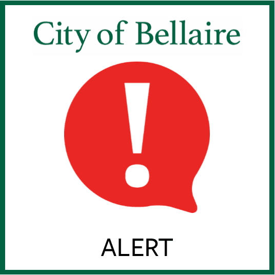 City of Bellaire Alert Image