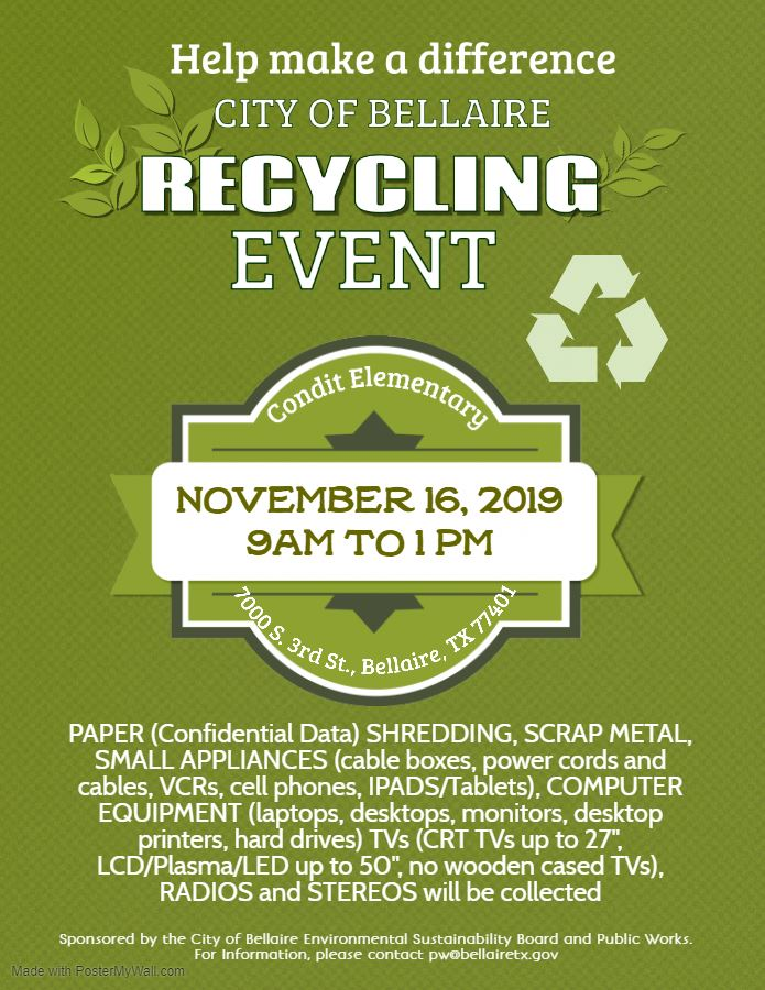 Fall 2019 Recycling Event Flyer (005)