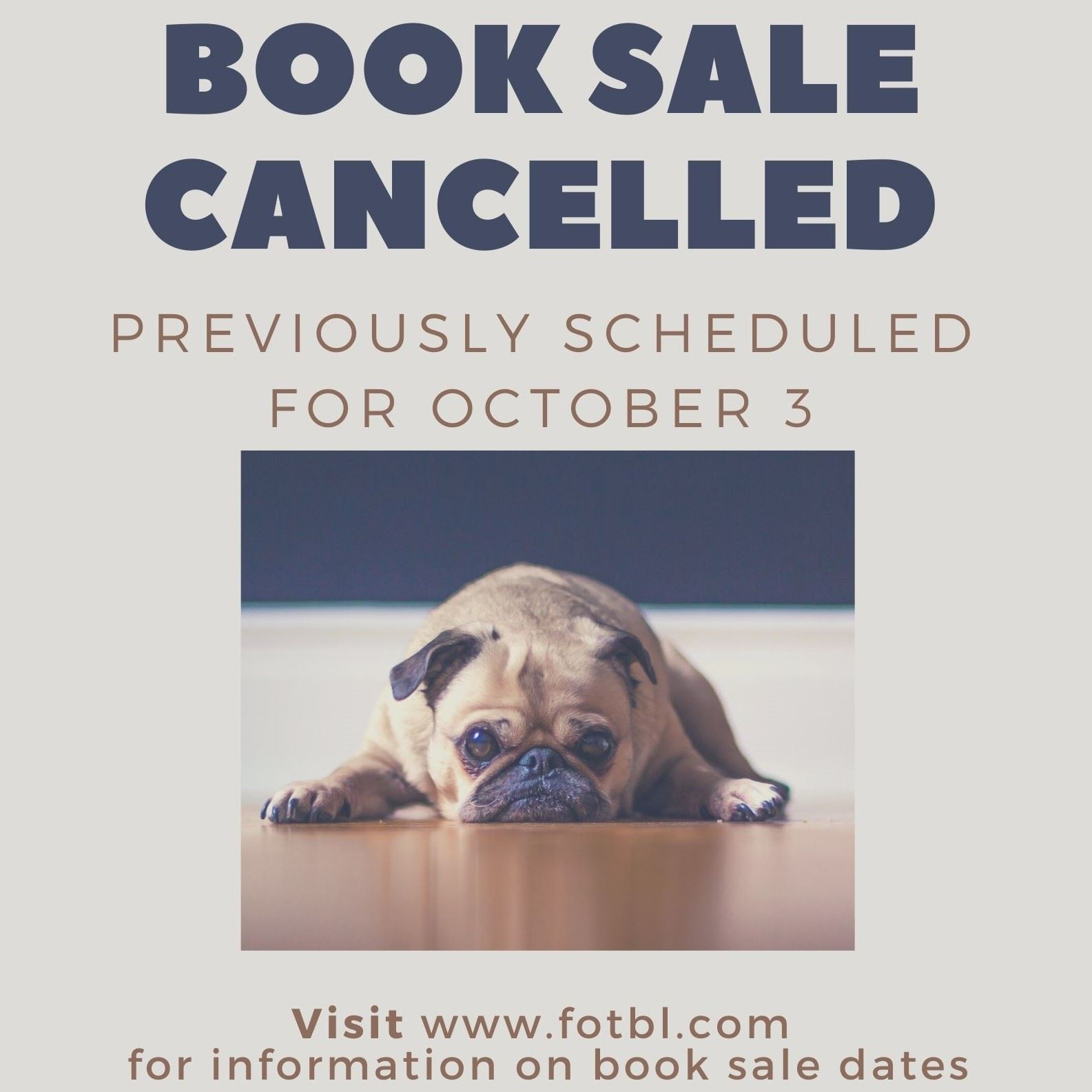 Book sale cancelled square