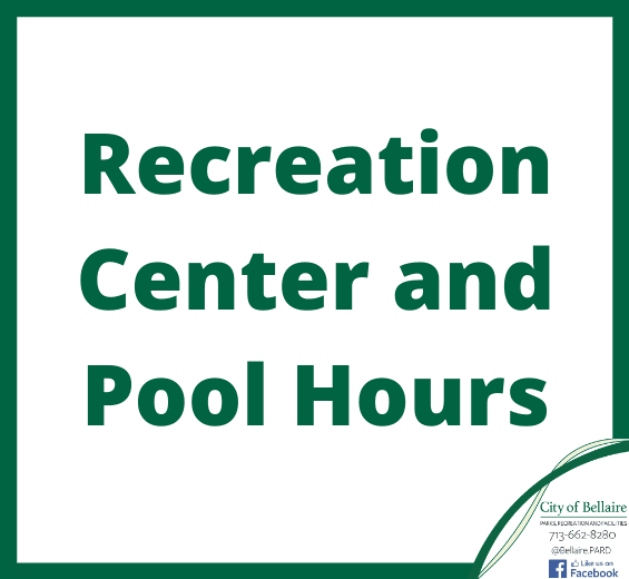Recreation Center and Pool Hours Image