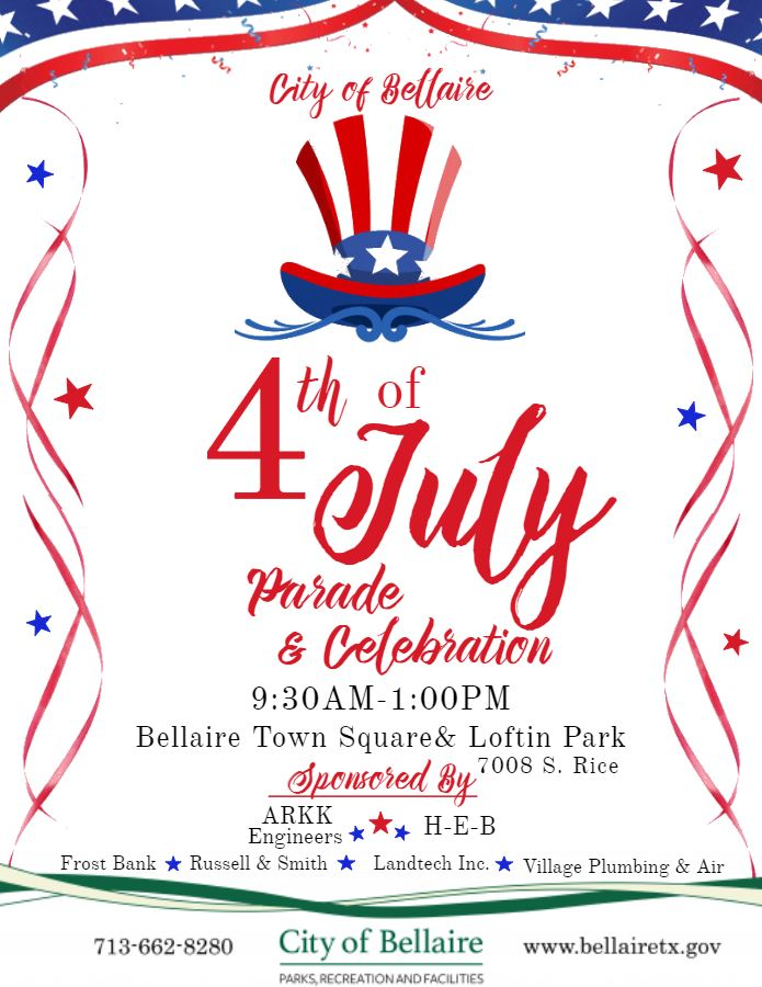 4th of July flyer with Sponsors