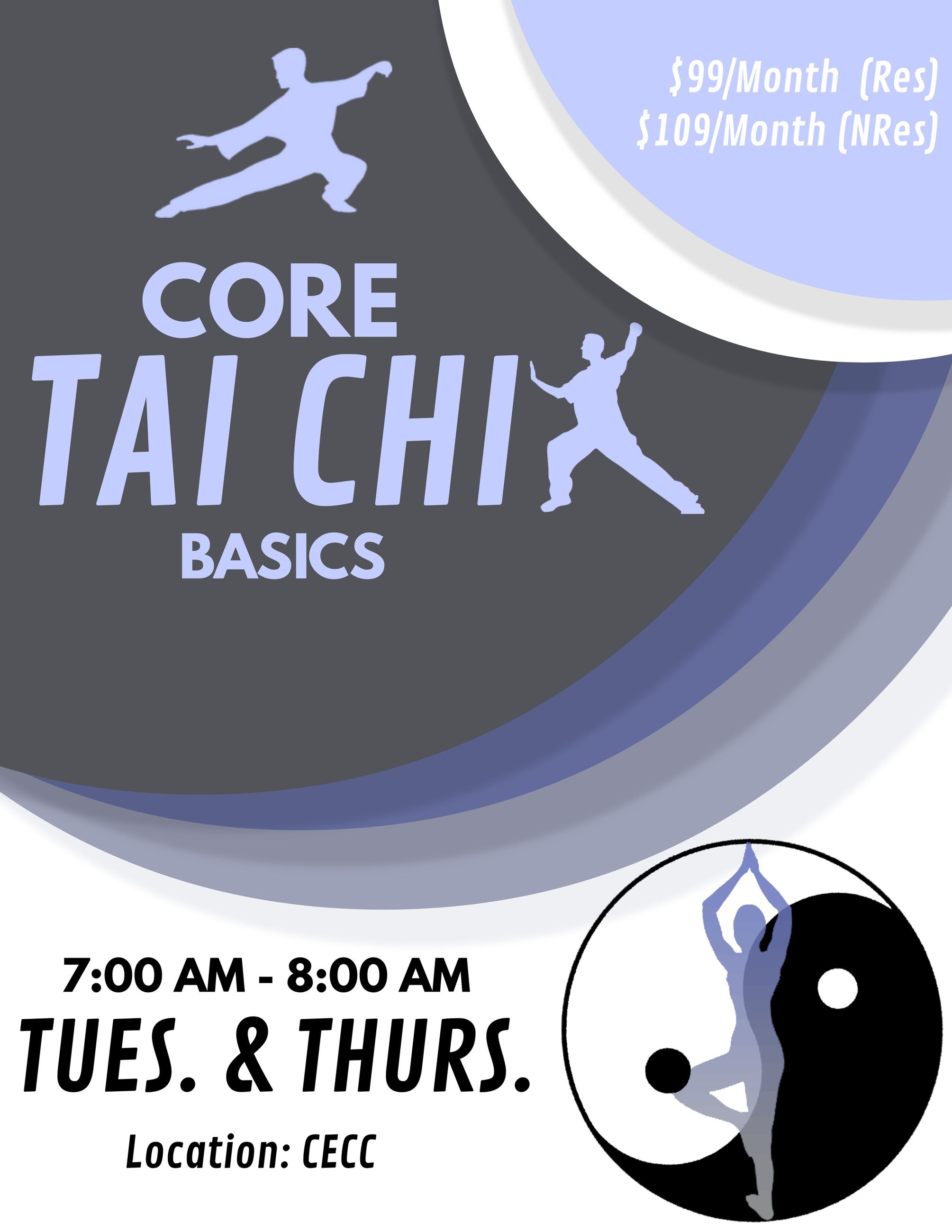 Core Tai Chi Basics Flyer