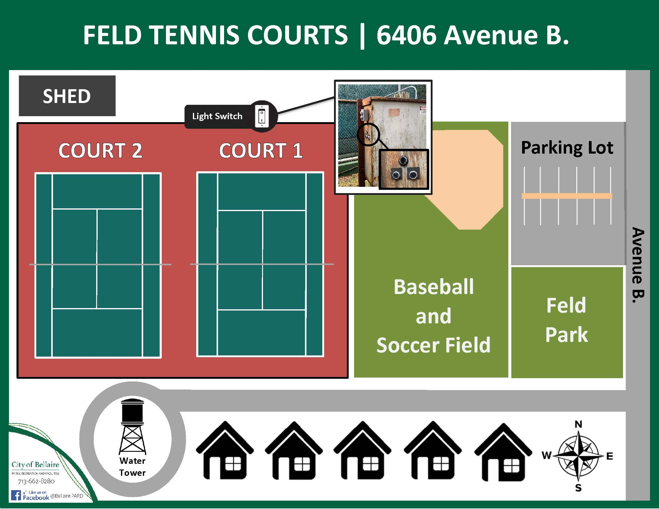 Feld Tennis Courts Map - 2
